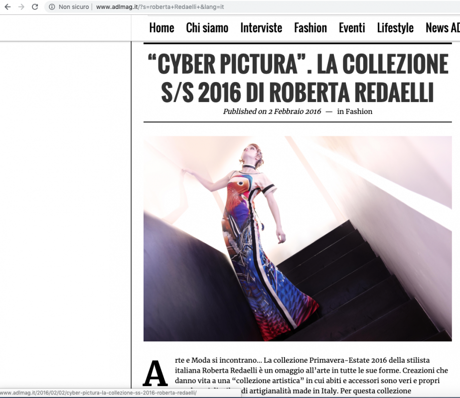 ADL Magazine 2nd February 2016 Roberta Redaelli ssCyber Pictura