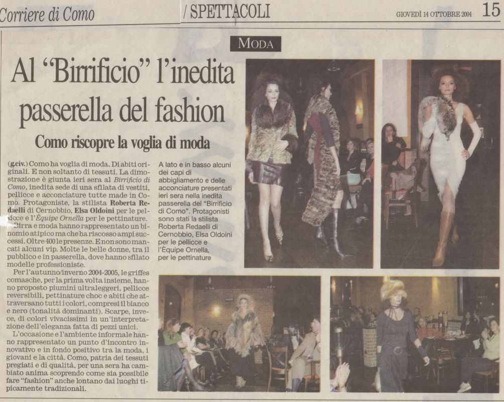 Corriere di Como 14th October 2004