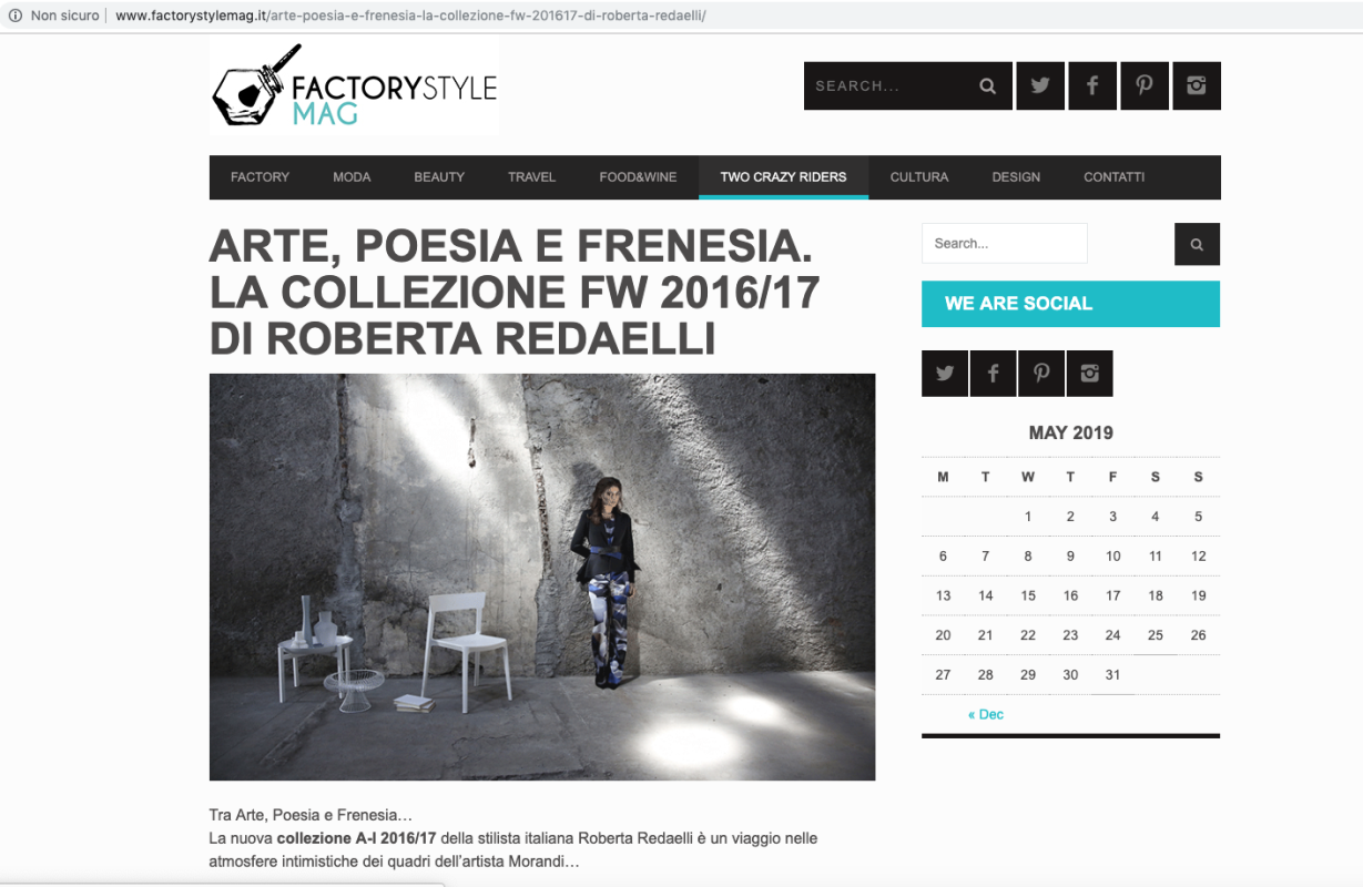 Factory Style Mag 18th October 2016 Roberta Redaelli fw Contrasti poesia frenesia