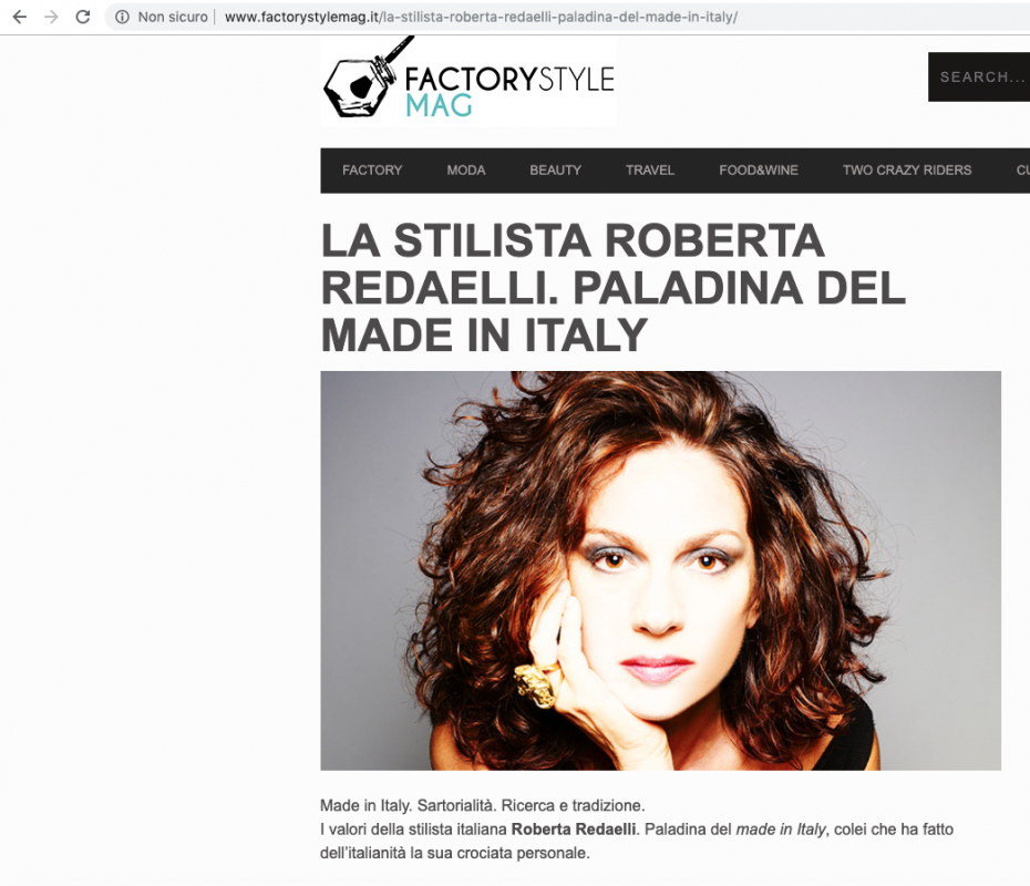 Fashion Style Mag September 2014 Roberta Redaelli and the value of real Made In Italy