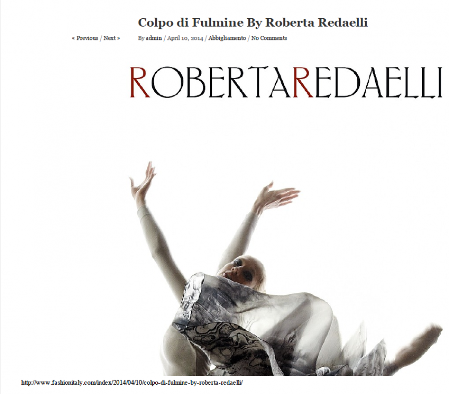 Fashion Italy 10th April 2014 Roberta Redaelli ss Colpo di Fulmine virna toppi