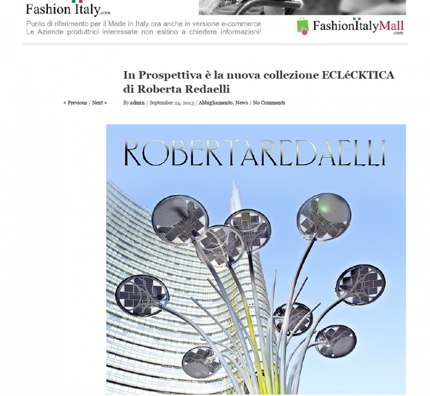 Fashion Italy 24th September 2013 Roberta Redaelli fw In Prospettiva