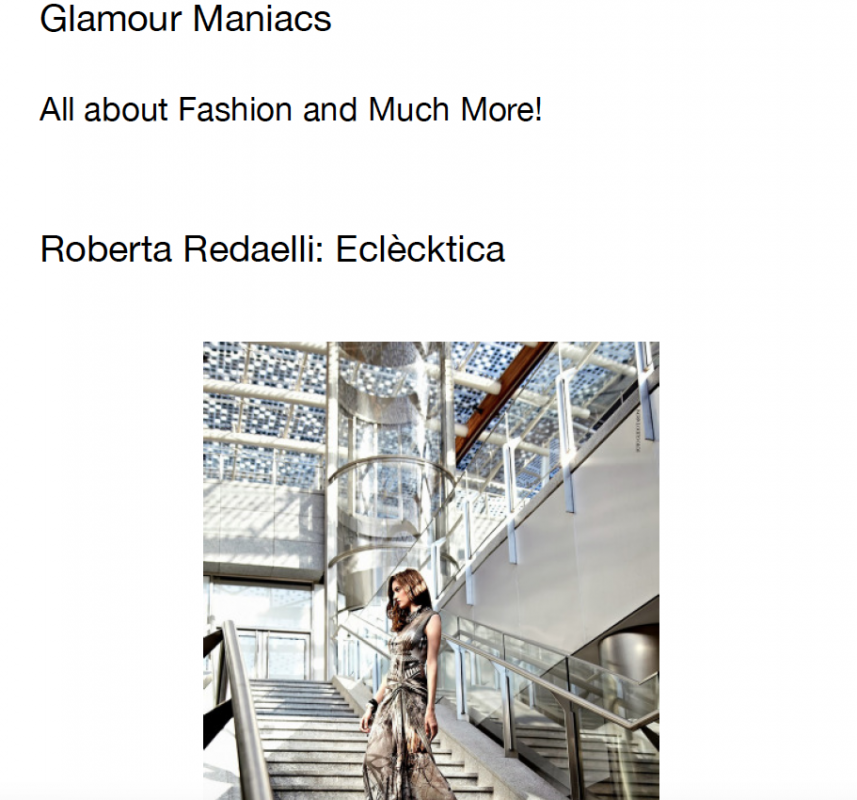Glamour Maniacs 28th September 2013 Roberta Redaelli fw In Prospettiva