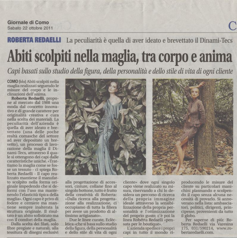 Il Giornale di Como 22th October 2011