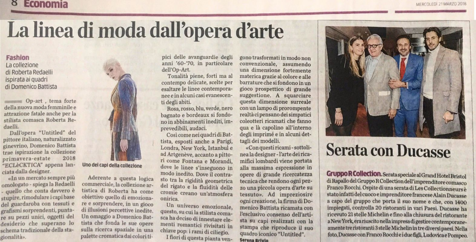 La Provincia di Como 21st March 2018 Roberta Redaelli ss Untitled