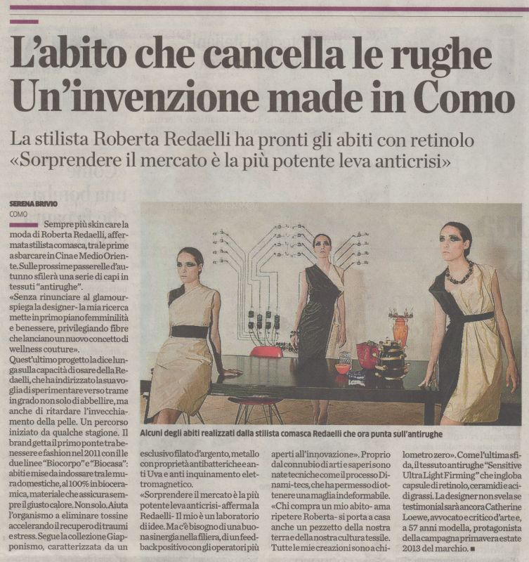 La Provincia di Como 18th July 2013 Roberta Redaelli interwiev