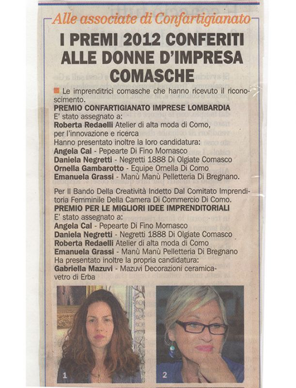 La Provincia di Como 11th March 2012 Roberta Redaelli