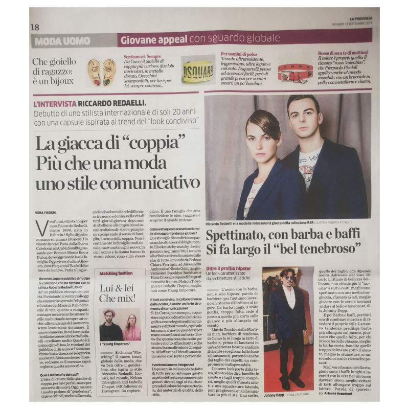La Provincia di Como 13th september riccardo redaelli robrta redaelli couple jacket