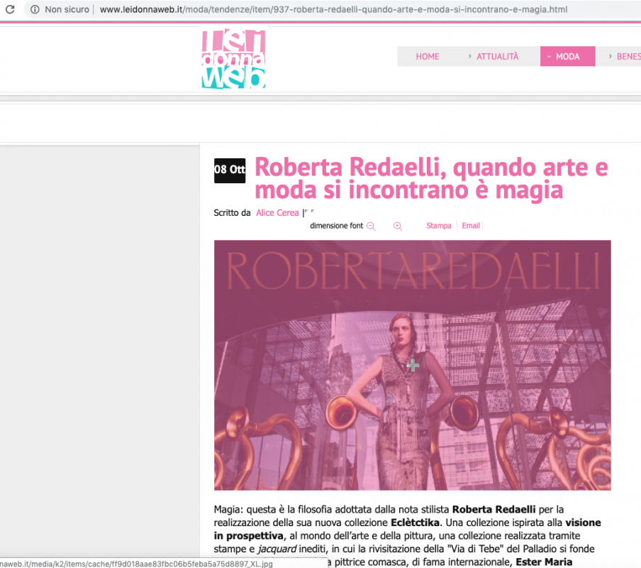 Lei Donna Web 9th October 2013 Roberta Redaelli fw In Prospettiva
