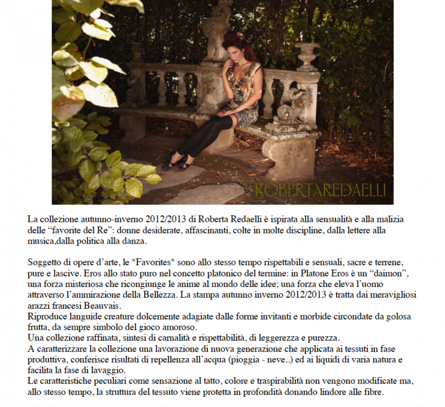 Love for Italy gennaio 2013 Roberta Redaelli ai Les Favorites du Roy
