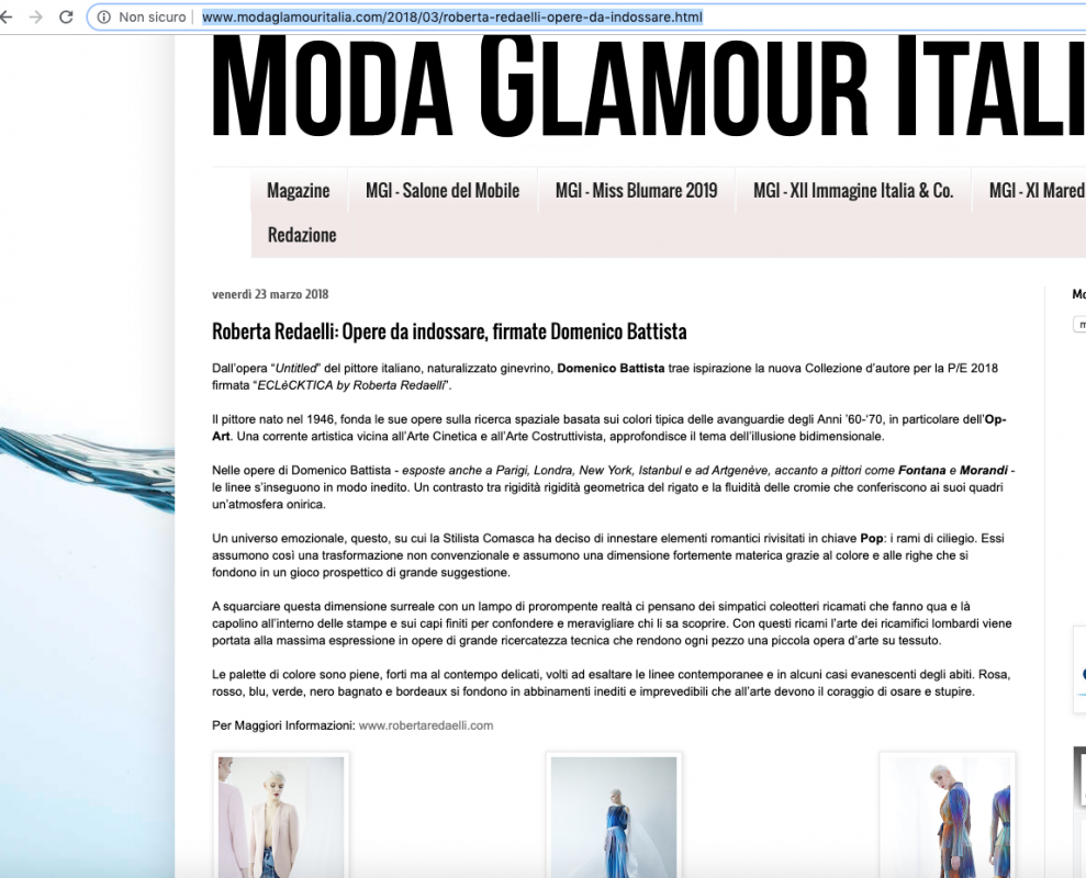 Moda Glamour Italia 23rd March 2018 Roberta Redaelli ss Untitled