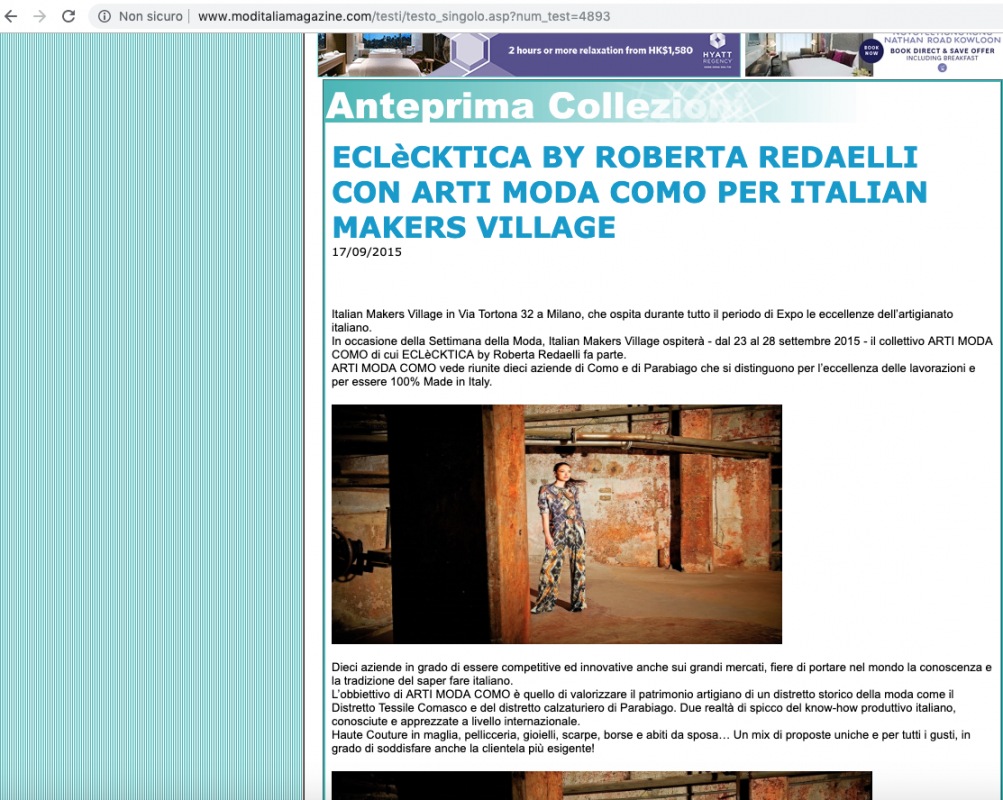 ModItalia Magazine 17th September 2015 Roberta Redaelli in Milan for Italian Makers Village