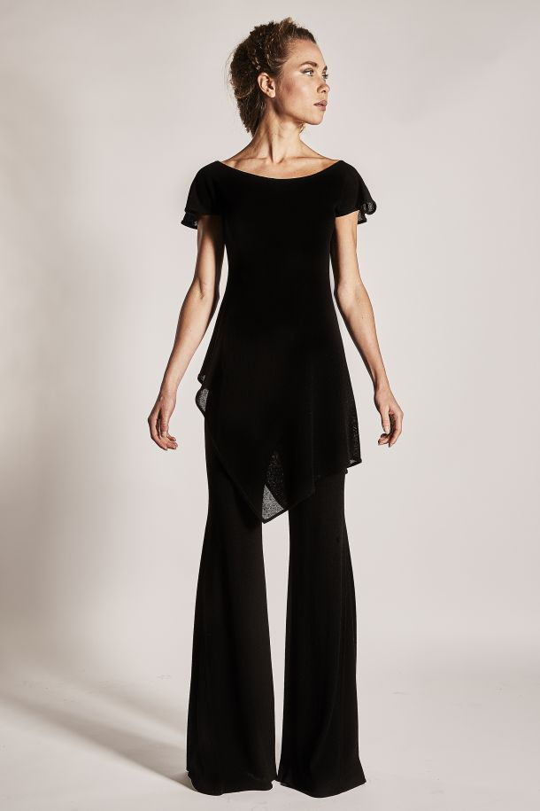 Roberta Redaelli Essential spring summer R646 knitted top and R670 knitted trousers