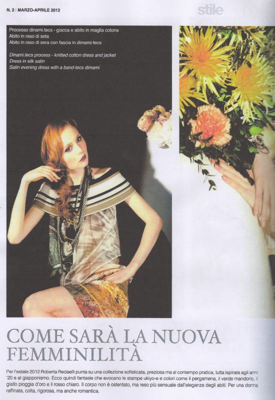 Stile Italiano Magazine April 2012 Roberta Redaelli