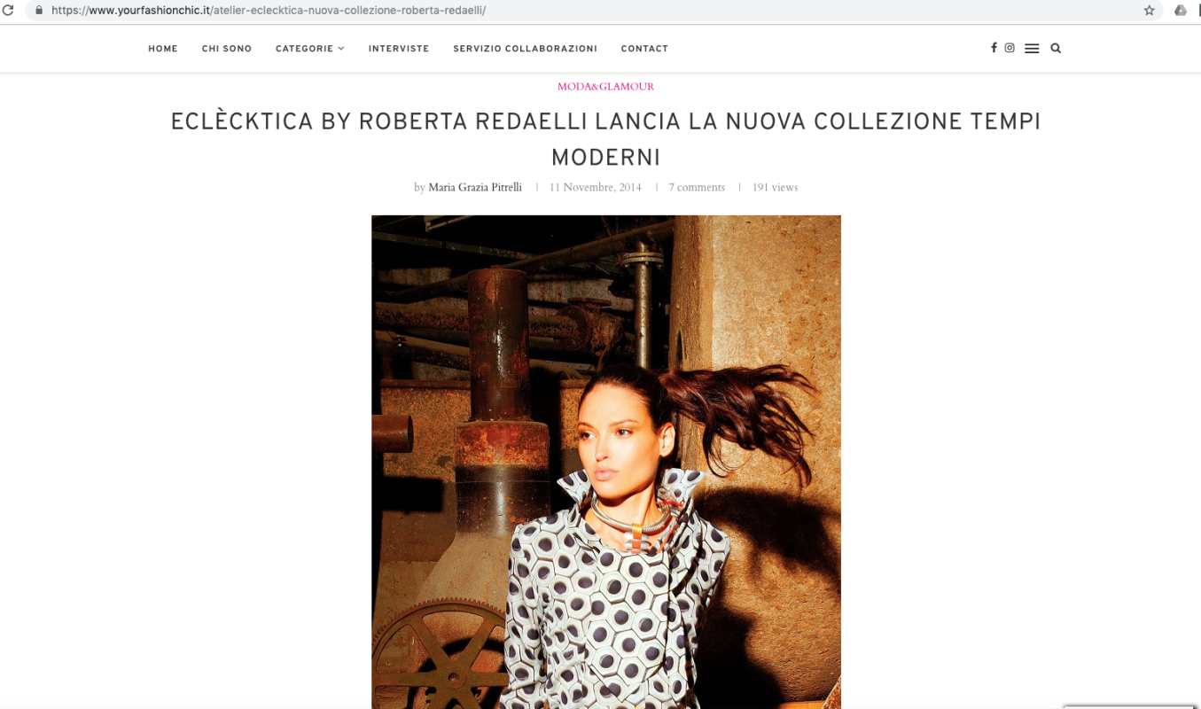 Your Fashion Chic 11th November 2014 Roberta Redaelli fw Tempi Moderni