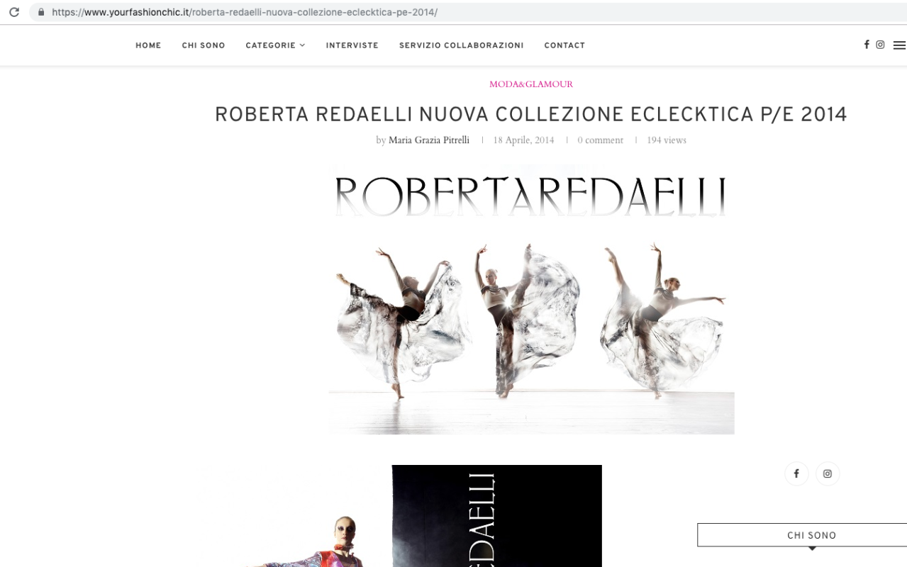 Your Fashion Chic 18th April 2014 Roberta Redaelli pe Colpo di Fulmine Virna Toppi