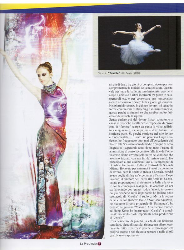 Tess March 2014 Virna Toppi testimonial for Roberta Redaelli
