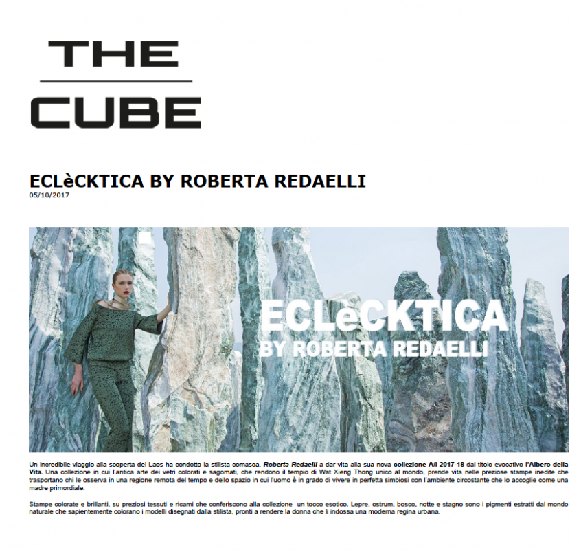 The Cube 5th October 2017 Roberta Redaelli fw L'Albero della Vita